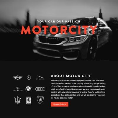 Web Design - Motor City