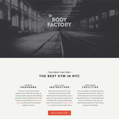 Web Design - The Body Factory