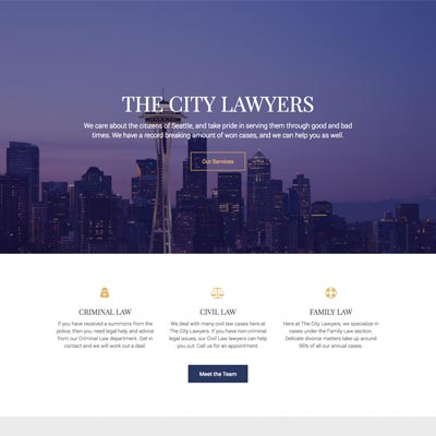 Web Design - The City Lawyers